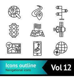 Mobile navigation icons set vector