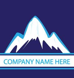 Mountains in navy color logo vector image vector image