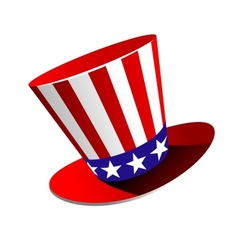 Patriotic American top hat vector image