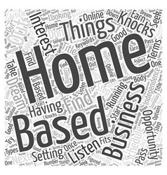 Take advantage of that home based business vector