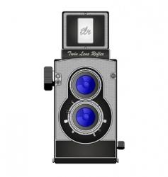 twin lens reflex camera vector image vector image