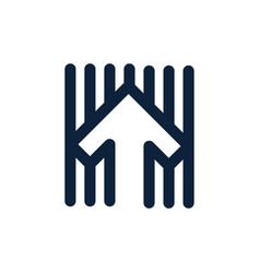 abstract arrow up company logo arrow symbol vector image