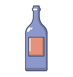 alcohol bottle icon cartoon style vector image