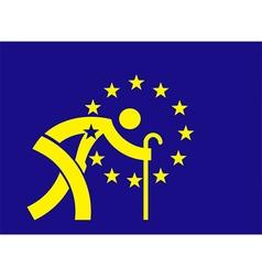 An aging Europe European Union flag vector