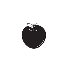 Apple solid icon healthy fruit graphics vector