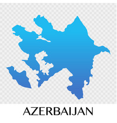 azerbaijan map in asia continent design vector image