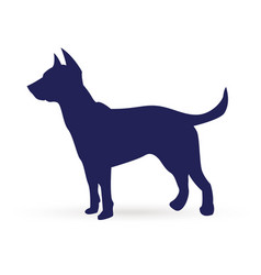 blue dog silhouette icon vector image