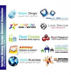 Business design elements vector