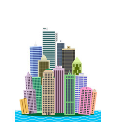 Cartoon picture of manhattan vector