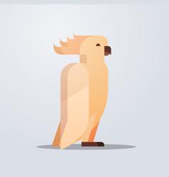 cockatoo icon cute cartoon wild animal symbol vector image