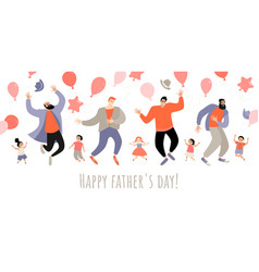 congratulatory banner for fathers day vector image
