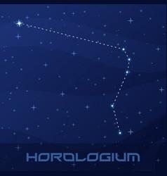 constellation horologium clock night star sky vector image