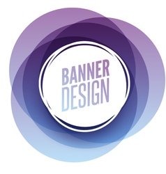 Creative circle round overlay banner with place vector image