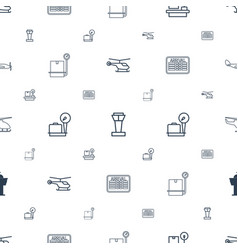 Departure icons pattern seamless white background vector