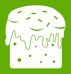 easter cake icon green vector image