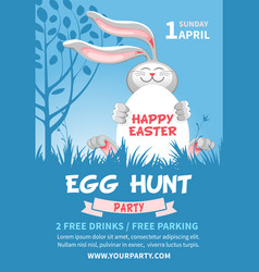Easter egg hunt flyer template vector