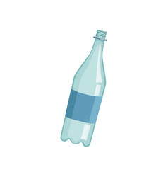 empty lastic bottle recycling garbage concept vector image