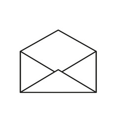 envelope open icon vector image