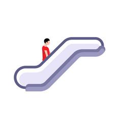 escalate icon sign elevator mall symbol vector image