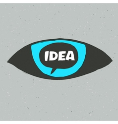 eye idea poster vector image