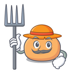 Farmer mochi character cartoon style vector
