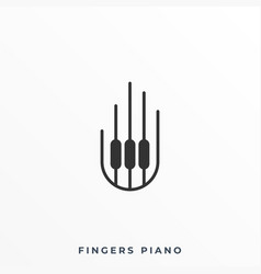 fingers piano template vector image