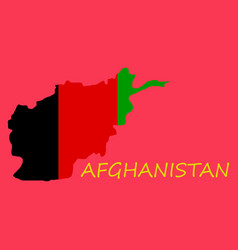 Flag of islamic republic of afghanistan overlaid vector
