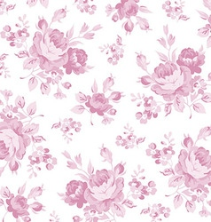 Floral pattern with pink rose vector
