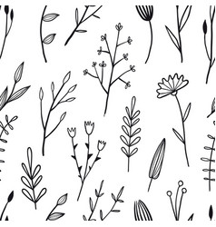 flower simple seamless pattern vector image