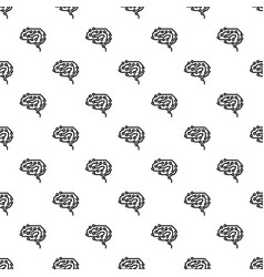 future brain pattern seamless vector image