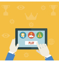Gamification concept of business vector