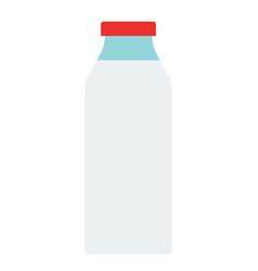 glass bottle milk flat isolated vector image