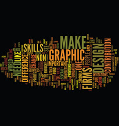 Graphic design firms text background word cloud vector