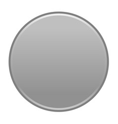 Gray circle button empty web internet icon vector
