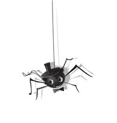 Halloween spiders ISOLATED vector image