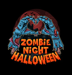 halloween zombie hands come out ground vector image