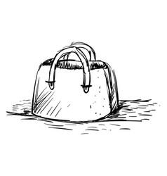 Handbag drawing on white background vector