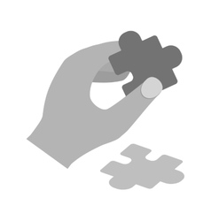 Holding Puzzle Piece vector image