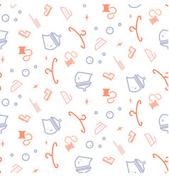 household line icon seamless pattern for vector image