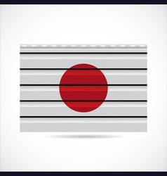 Japan siding produce company icon vector image