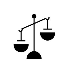justice simple icon black vector image