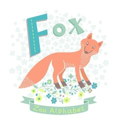 Letter F - Fox vector image