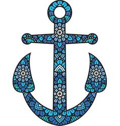 Mandala anchor color vector