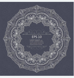 mandala vintage decorations elements and frames vector image