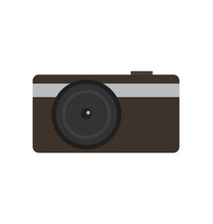 modern compact digital photo camera icon vector image