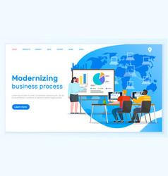 modernizing business process presentation web vector image