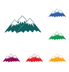 mountain icon concept vector image