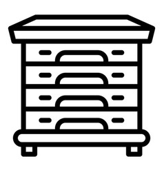Multi beehive icon outline style vector
