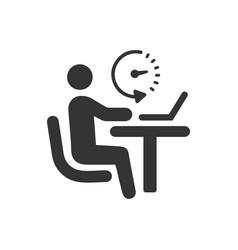 Office working icon vector