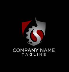 Oil machine security logo template vector